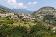 canvas print picture - View from Ravello on the village of Scala, Amalfi Coast Italy