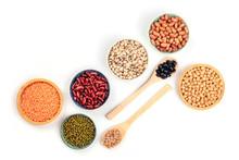 Various Types Of Legumes, Shot...