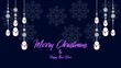 Merry Christmas animation with snowman and snowflakes