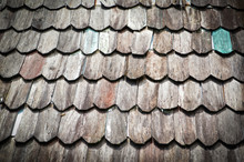 Old Wooden Roof Background Or ...