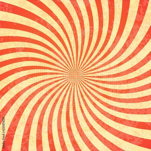 Spoed Fotobehang Psychedelic Swirling radial vortex background