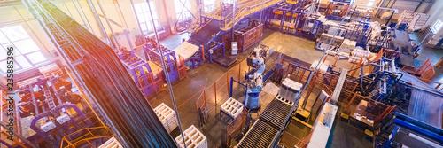 Fotografía  Fiberglass production industry equipment at manufacture background