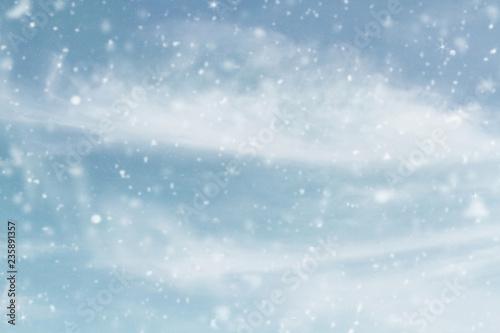 Photo Snowy wintry sky
