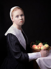 Portrait Of A Young Girl With ...