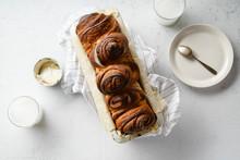 Swirl Bread Loaf In Baking Pan...