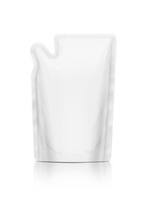 White Refill Pouch Isolated On White Background