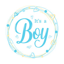 It's A Boy Modern Lettering Ph...