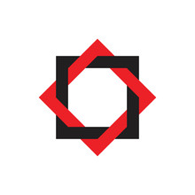Linked Frame Star Logo Vector