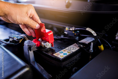 Check and maintenance the battery in car with yourself. Canvas