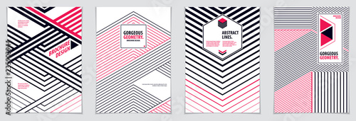Photo  Minimal flyers, booklets, annual reports cover templates