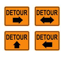 Detour Signs Set