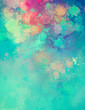abstract colorful image of watercolor splashes