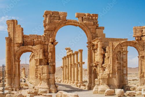 Cuadros en Lienzo Palmyra, Syria - Ruins Old Greco Roman