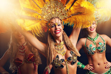 Brazilian Women Dancing Samba ...