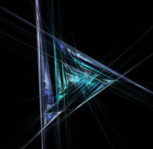 Abstract Futuristic Mirror Space