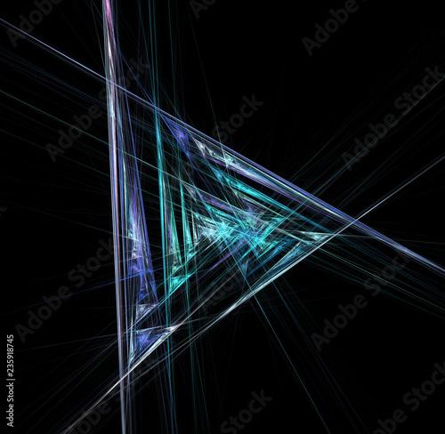 Obraz na plátně  abstract futuristic mirror space
