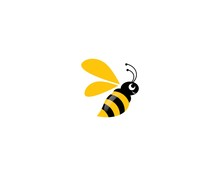 Bee Logo Vector Icon Illustrat...