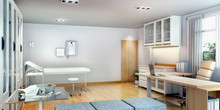 3d Rendering First Aid Room Ne...