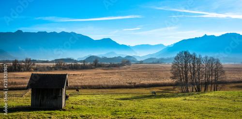 Foto op Plexiglas Blauw landscape murnauer moos - bavaria