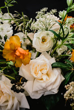 Bouquet Of White And Yellow Flowers