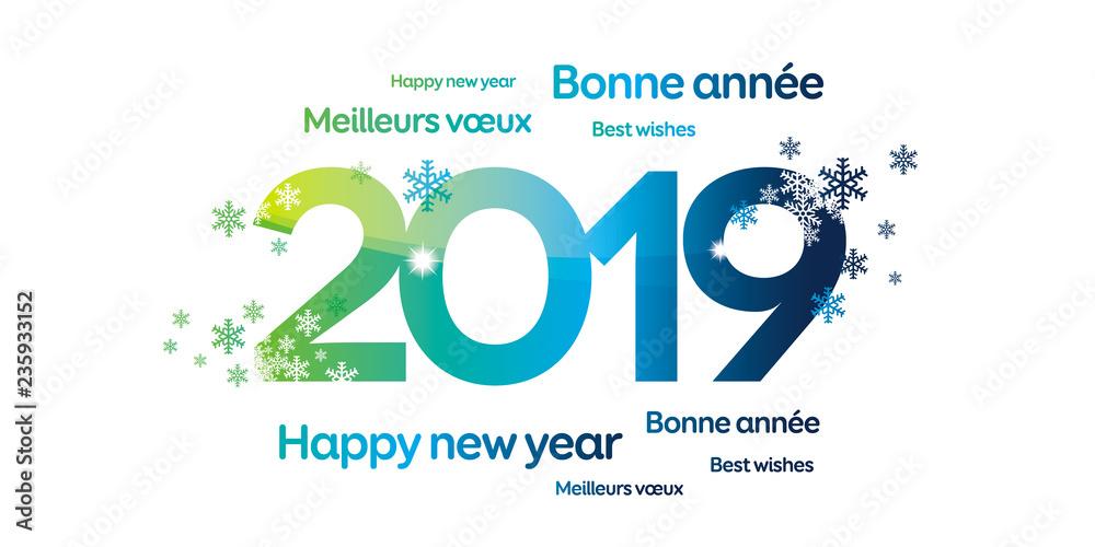 Fototapety, obrazy: 2019 CARTE DE VOEUX