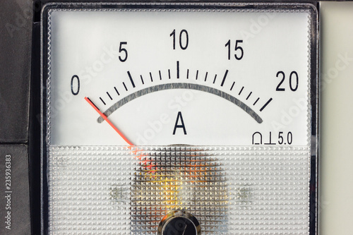 The white scale of the ammeter with zero position of the indicator Wallpaper Mural