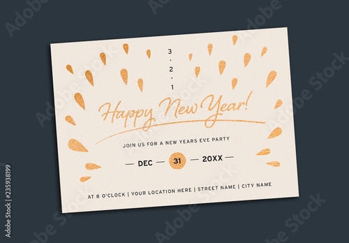 new years eve party invitation layout buy this stock template and