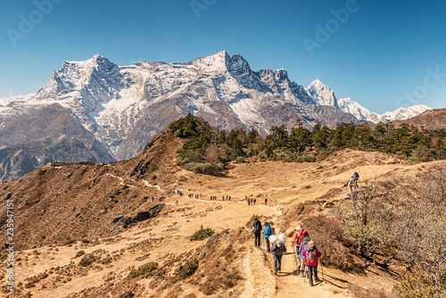Foto op Canvas Asia land Kongde Ri peak on the trek to Everest base camp in Sagarmatha national park, Nepal