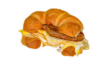 Sausage Egg And Cheese On A Cr...
