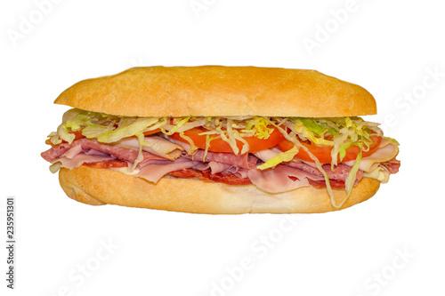 Fotografie, Obraz  Ham Hero Sandwich