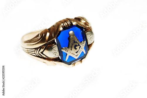 Vászonkép Old Masonic Ring