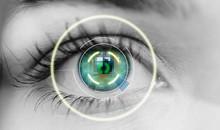 Bionic Eye Or Security Scan Black White