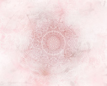 Pink Abstract Mandala Light Ba...