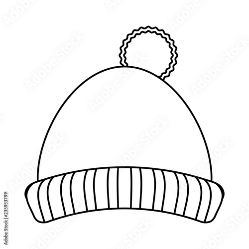 39e4fefe718 Winter hat clothes black and white - Buy this stock vector and ...
