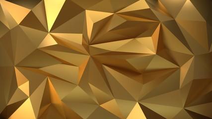 Geometric gold 3d background
