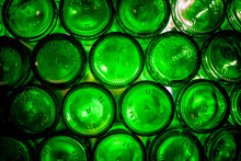 Green Glass Bottles Of Beer