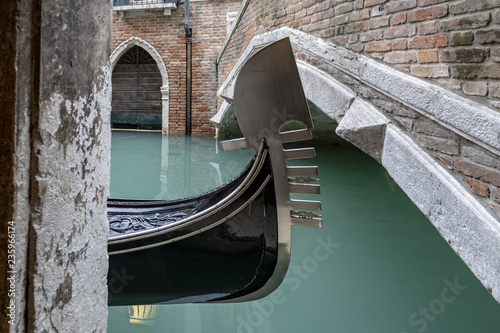 Spoed Foto op Canvas Gondolas Gondel in Venedig