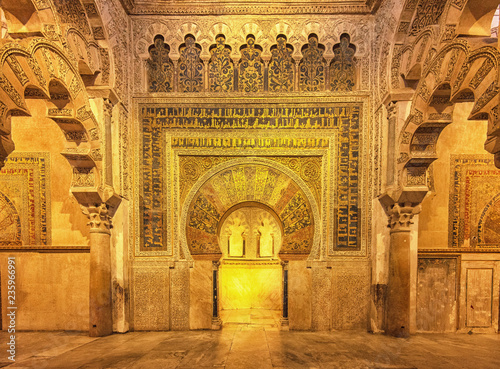Wall Murals Place of worship Decorated interior of the Great Mosque, Mezquita in Andalusia