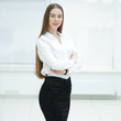 portrait of Executive business woman.photo with copy space