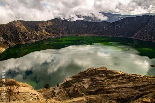 Zdjęcie XXL Piękna laguna Quilotoa, Ekwador