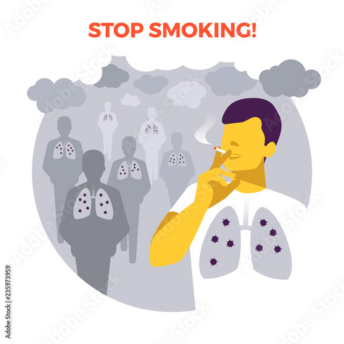 Smoking In Public Place Seconhand Smoke Illness Risk Stop Smoking World No Tobacco Day Air Pollution Infographic Vector Illustration Healthcare Poster Or Banner Template Buy This Stock Vector And Explore Similar