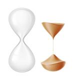 Vector realistic hourglass sandglass 3d mock up