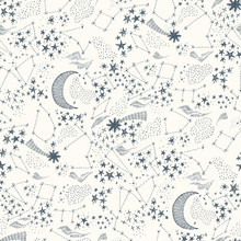 Starry Sky Seamless Pattern-01