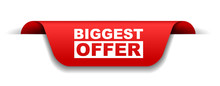 Red Vector Banner Biggest Offer