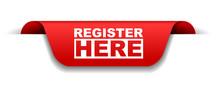 Red Vector Banner Register Here
