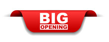 Red Vector Banner Big Opening