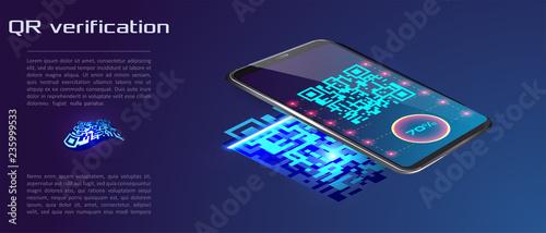 Valokuva  Trendy Isometric Vector Smartphone