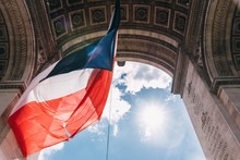 Low Angle View Of French Flag ...