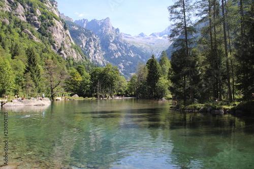 Lago in Val di Mello Canvas Print