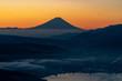 高ボッチ高原の夜景と富士山(日本の絶景)